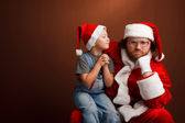 Sad santa — Stock Photo