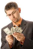 считать деньги — Стоковое фото