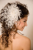 Feather hairpin — Stock Photo