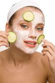 Cura naturale del viso — Foto Stock