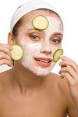 Natural face care — Stockfoto