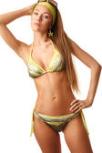 Young sensual woman in bikini — Stock Photo