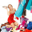 Still nothing to wear! - Stock Photo