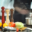 Restaurant kitchen — Stockfoto #19049857