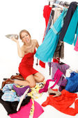 Still nothing to wear! — Stock Photo