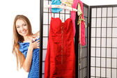Choosing dress — Stock Photo
