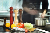 Restaurangkök — Stockfoto