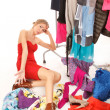 Stock Photo: Nothing to wear!