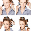 Stock Photo: Applying make-up