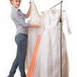 Stock Photo: I found my dress!