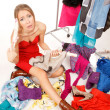 图库照片: Still nothing to wear!