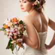 Bride with bouquet — Stok Fotoğraf #19051689
