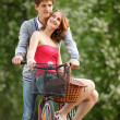 Stockfoto: Young couple having fun in park