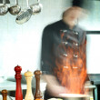 Cooking in restaurant kitchen — Stock Photo