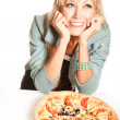 Stock Photo: Love pizza!