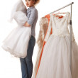 Royalty-Free Stock Photo: Choosing wedding dress
