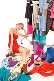 Nothing to wear! — 图库照片