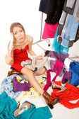 Still nothing to wear! — 图库照片