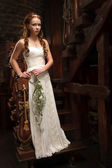 Young tender bride — Stock Photo