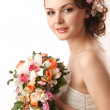 Stock Photo: Bride with bouquet