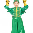 Little boy in dragon costume — Stock Photo