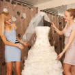 Women Shopping For Wedding Dress — Stock Photo