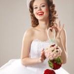 Pin-up bride — Stock Photo