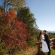 Autumn wedding — Stock Photo