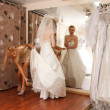 Having fun in bridal Boutique — Stock Photo #29638519