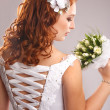 Bride with bouquet — Stock Photo #29638525