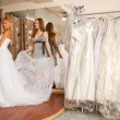 Stock fotografie: Trying On A Wedding Dress