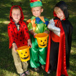 Three boys are waiting for candies — Stock Photo