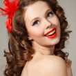 Pin-up girl — Foto Stock