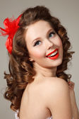 Pin-up girl — Stock fotografie