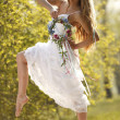 Bride in hippie style — Stock Photo