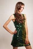 Young  shiny woman  portrait — Stock Photo