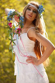 Hippie bride — Stock Photo
