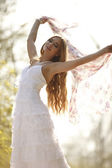 Bride in hippie style — Stock Photo