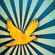 Sunburst Peace Dove — Stock Photo