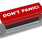 Do Not Panic Button — Stock Photo #13852284