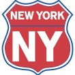 New York State Road Shield in Red White and Blue — Stock Photo #13892183