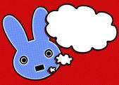 Pop Art Talking Bunny — Stock Photo
