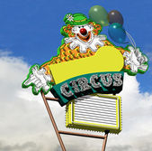 Circus Clown Neon Sign — Stock Photo