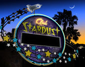 Club Stardust Neon Sign — Stock Photo