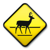 Deer Crossing Icon — Stock Photo