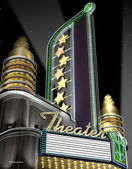 Deco Theater Neon Sign — Stock Photo