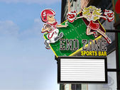 End Zone Sports Bar Neon Sign — Stock Photo