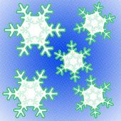Pop Art Snowflakes — Stock Photo