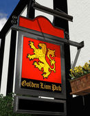 The Golden Lion Pub — Stock Photo