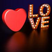 Neon Love — Stock Photo